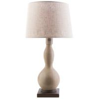 Surya KOA275-TBL Koa 28 inch 100 watt Taupe Table Lamp Portable Light