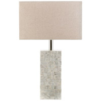 Landon 22 inch 100 watt Cream Table Lamp Portable Light
