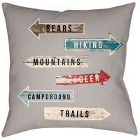 Lodge Cabin 20 X 20 inch Outdoor Pillow Cover, Square