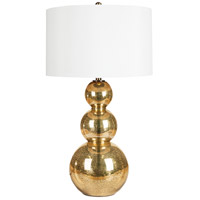 Surya LMP-1017 Signature 32 inch 150 watt Goldtone Mercury Glass Table Lamp Portable Light