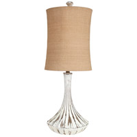 Surya LMP-1028 Signature 36 inch 100 watt Distressed White Table Lamp Portable Light