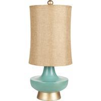 Surya LMP-1039 Signature 27 inch 100 watt Aged Turquoise Table Lamp Portable Light