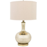 Surya MMLP-001 Emma 27 inch 100 watt Goldtone Mercury Speckle Table Lamp Portable Light