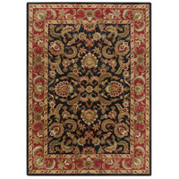 Ancient Treasures 132 X 96 inch Black and Red Area Rug, Wool