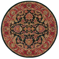 Ancient Treasures 96 inch Black and Red Area Rug, Wool