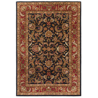 Ancient Treasures 156 X 108 inch Black and Red Area Rug, Wool