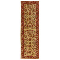 Ancient Treasures 96 X 30 inch Green and Red Runner, Wool