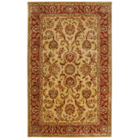 Ancient Treasures 96 X 60 inch Green and Red Area Rug, Wool