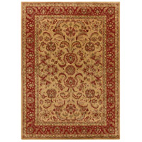 Ancient Treasures 132 X 96 inch Green and Red Area Rug, Wool