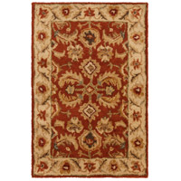 Ancient Treasures 36 X 24 inch Red and Neutral Area Rug, Wool