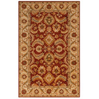 Ancient Treasures 96 X 60 inch Red and Neutral Area Rug, Wool