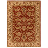 Ancient Treasures 132 X 96 inch Red and Neutral Area Rug, Wool