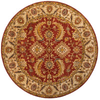 Ancient Treasures 96 inch Red and Neutral Area Rug, Wool