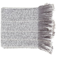 Surya AAH1001-5060 Arrah 60 X 50 inch White and Grey Throw