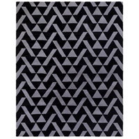 Anagram 120 X 96 inch Black and Gray Area Rug, Wool
