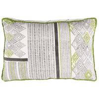 Aba 19 X 13 inch Lime and Dark Brown Throw Pillow