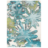 Aberdine 126 X 90 inch Blue and Blue Area Rug, Polypropylene