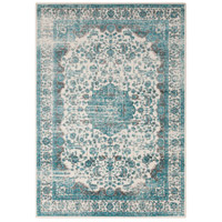 Aberdine 90 X 62 inch Blue and Blue Area Rug, Polypropylene