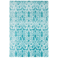Aberdine 36 X 26 inch Blue and Blue Area Rug, Polypropylene