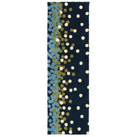 Abigail 96 X 30 inch Blue and Blue Area Rug, Polyester