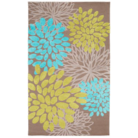 Abigail 96 X 60 inch Blue and Green Area Rug, Polyester