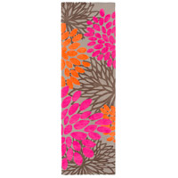 Abigail 96 X 30 inch Pink and Orange Area Rug, Polyester