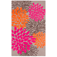 Abigail 96 X 60 inch Pink and Orange Area Rug, Polyester