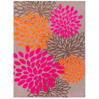 Abigail 132 X 96 inch Pink and Orange Area Rug, Polyester