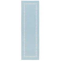 Abigail 96 X 30 inch Blue and Neutral Area Rug, Polyester