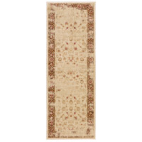 Arabesque 87 X 31 inch Neutral and Brown Runner, Polypropylene