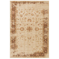Arabesque 87 X 63 inch Neutral and Brown Area Rug, Polypropylene
