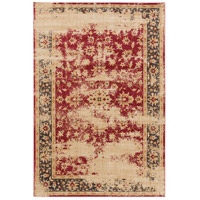 Arabesque 87 X 63 inch Red and Black Area Rug, Polypropylene