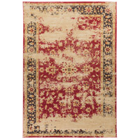 Arabesque 153 X 106 inch Red and Black Area Rug, Polypropylene