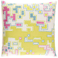 Surya ACR001-2020 Macro 20 X 20 inch Yellow and Purple Pillow Cover