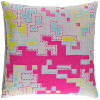 Surya ACR003-2020 Macro 20 X 20 inch Pink and Green Pillow Cover