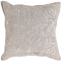 Surya AD001-1818 Adeline 18 X 18 inch Grey Pillow Cover