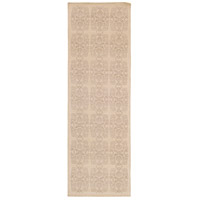 Adeline 96 X 30 inch Neutral and Neutral Runner, Wool, Viscose, and Cotton