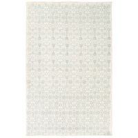 Adeline 90 X 60 inch Green and Neutral Area Rug, Wool, Viscose, and Cotton