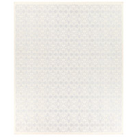 Adeline 120 X 96 inch Blue and Neutral Area Rug, Wool, Viscose, and Cotton