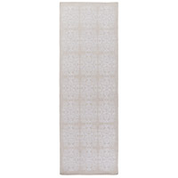 Adeline 96 X 30 inch Gray Runner, Wool, Viscose, and Cotton