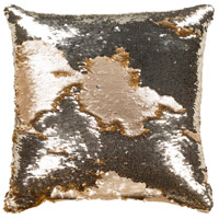 Andrina 18 X 18 inch Metallic - Champagne Pillow Kit, Square
