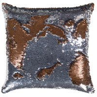 Andrina 18 X 18 inch Metallic - Silver Pillow Kit, Square