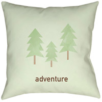 Adventure 20 X 20 inch Green and Brown Outdoor Throw Pillow