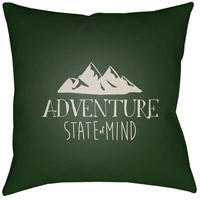 Adventure Iii 20 X 20 inch Green and Beige Outdoor Throw Pillow