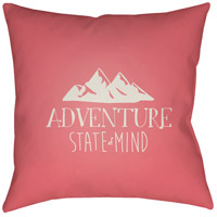 Adventure Iii 20 X 20 inch Pink and Beige Outdoor Throw Pillow