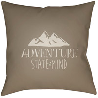 Adventure Iii 20 X 20 inch Brown and Beige Outdoor Throw Pillow