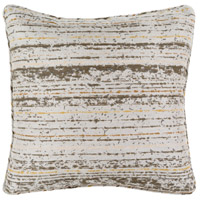Arie 16 X 16 inch Brown and Grey Outdoor Throw Pillow