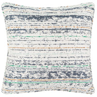 Arie 16 X 16 inch Navy and Green Outdoor Throw Pillow