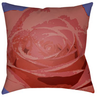 Abstract Floral 18 X 18 inch Red and Red Outdoor Throw Pillow