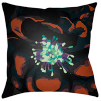 Abstract Floral 18 X 18 inch Green and Green Outdoor Throw Pillow